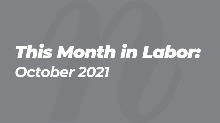 This Month in Labor