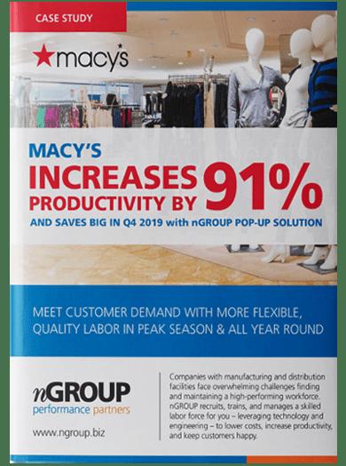 Macy's productivity increase Case Study.